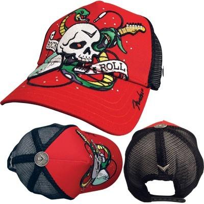 Fender Skull/Snake Trucker Hat - Red - Fender - 85172