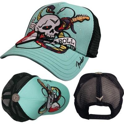Fender Skull/Snake Trucker Hat - Green - Fender - 85173