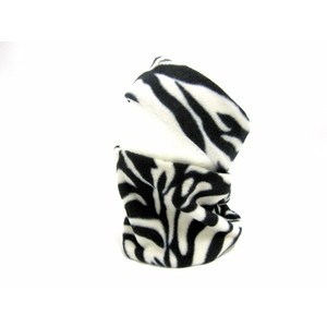 Earband/Neckwarmer Set - Zebra