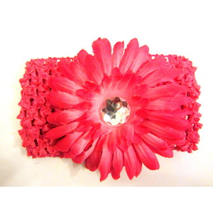 Flower Headband - Hot Pink