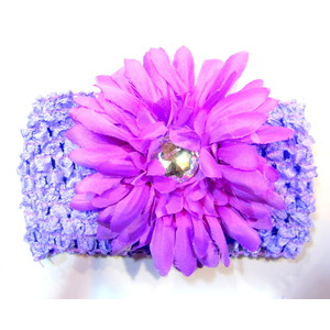 Flower Headband - Soft Purple