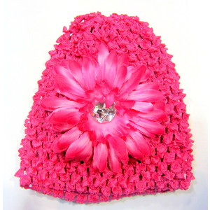 Infant Flower Hat - Hot Pink