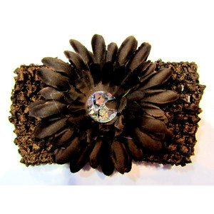 Flower Headband - Brown