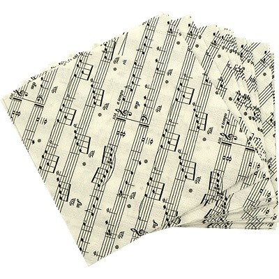 Napkin Aim Beverage Sheet Music 20/Pk - Aim - 7400