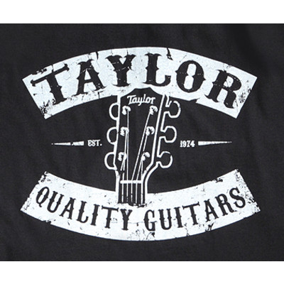Taylor Vintage Peghead T-Shirt - Black, Small - Taylor Guitars - Taylorware, Home and Gifts - 14804