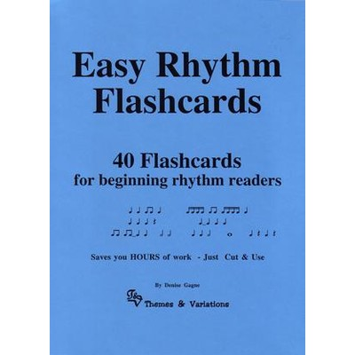 Music Easy Rhythm Flashcards - Themes and Variations - TV207