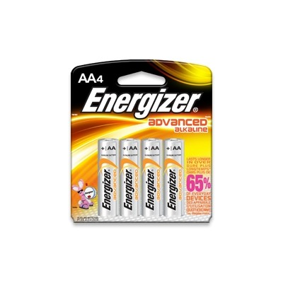 Energizer EN-91BP4 Max AA Batteries - 4/Card - Energizer - EN-E91BP4 (039800011329)