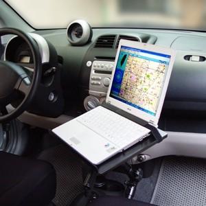 Universal Single Arm Swivel and Tilt Vehicle Laptop Mount