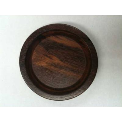 Caster Cup Upright Walnut Satin Laurel