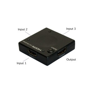Ultra High Performance 3-Port Mini HDMI Switcher (Supports 3D)