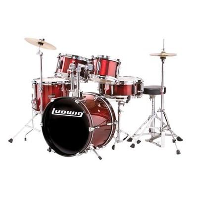 Junior 5 Piece Drum Kit - Black - Ludwig - LJR106-1