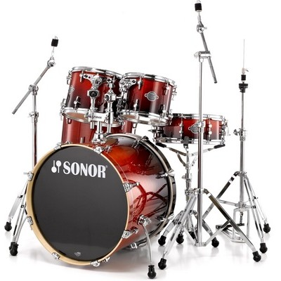 Drum Kit Sonor Essen Force Stage 3 10/12/16/22 Amber Fd w/Hw - Sonor - ESF11-STAGE3-11236