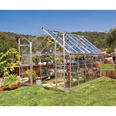 Palram Octave 8' x 12' Silver Greenhouse