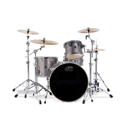 "DW Performance Series Bass Drum - 18""x22"" - Titanium Sparkle - DW - DRPF1822KKTS"