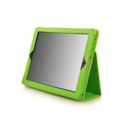 iPad 2/3 PU Leather Case with Stand - Green Color