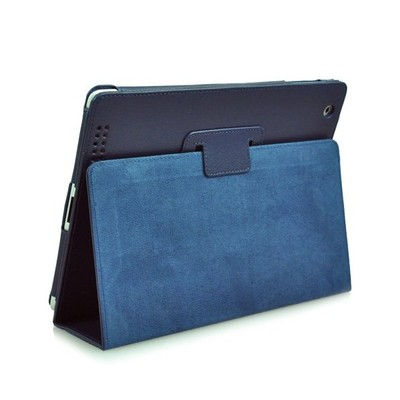 iPad 2/3 PU Leather Case with Stand - Blue Color