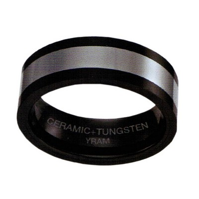 8mm Black Ceramic with Tungsten