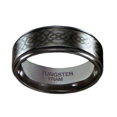 8mm Tungsten Celtic Knot Flat