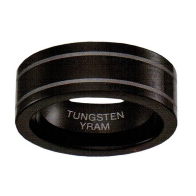 7mm Black Tungsten Double Line