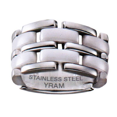13mm Stainless Steel White Ceramic Flex ring