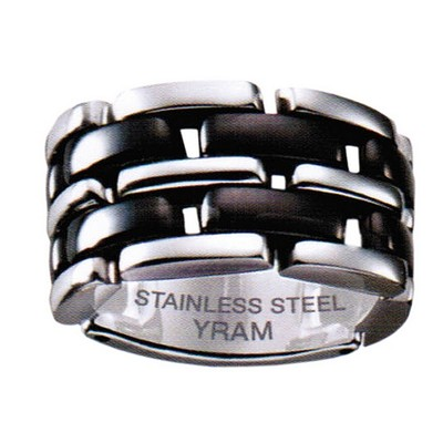 13mm Stainless Steel Black Ceramic Flex ring