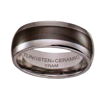 8mm Tungsten with Black Ceramic