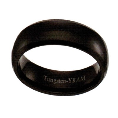 8mm Black Tungsten Half round
