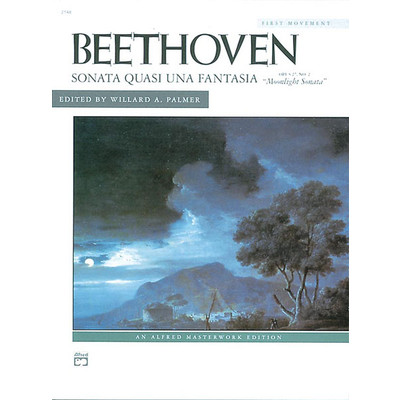 Music Beethoven Moonlight Sonata Op.27 No.2 (Mvt 1) - Alfred Music - 00-2148