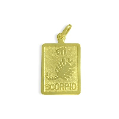 10 Karat Yellow Gold Scorpio Zodiac Pendant with Chain