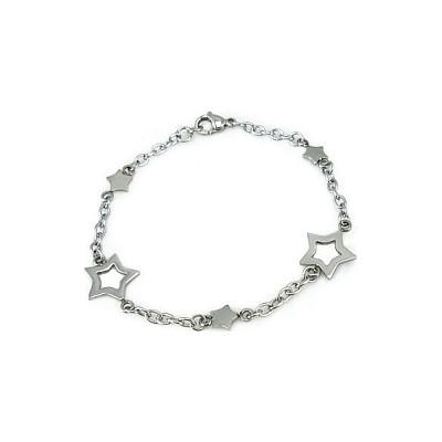 Ladies Stainless Steel Star Bracelet