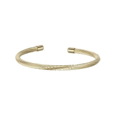 Gold Plated Stainless Steel Wire Cuff Bracelet