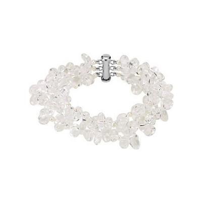 Genuine Sterling Silver Crystal & Pearl Bracelet