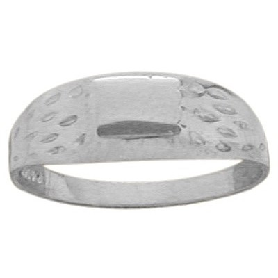 Genuine Sterling Silver Rectangle Baby Ring