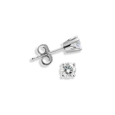 Baby 0.10 TCW White Gold Diamond Stud Earrings