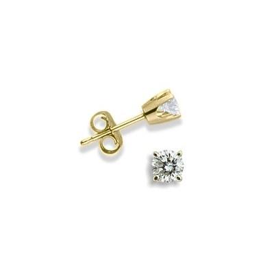 Baby 0.06 TCW Yellow Gold Diamond Stud Earrings
