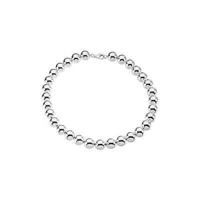 Genuine Sterling Silver 14mm Bead Bracelet