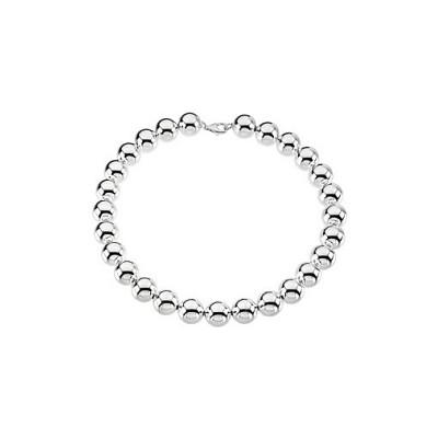 Genuine Sterling Silver 16mm Bead Bracelet