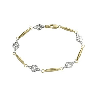 10 Karat Two-Tone Celtic Bracelet