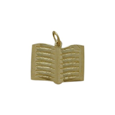 10 Karat Yellow Gold Holy Book Jewish Pendant
