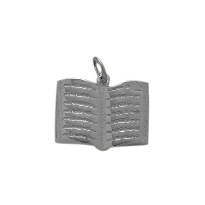 Genuine Sterling Silver Holy Book Jewish Pendant