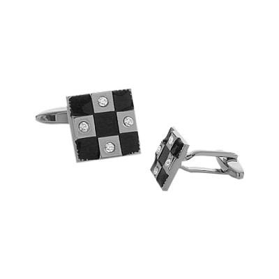Men's Enamel & Cubic Zirconia Cufflinks