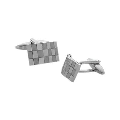 Men's High Polish & Brushed Steel Cufflinks