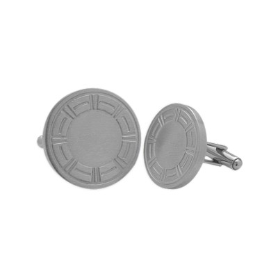 Men's Brushed Finish Stainless Steel Cufflinks