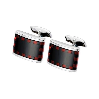 Men's Black Onyx & Red Cornelian Cufflinks