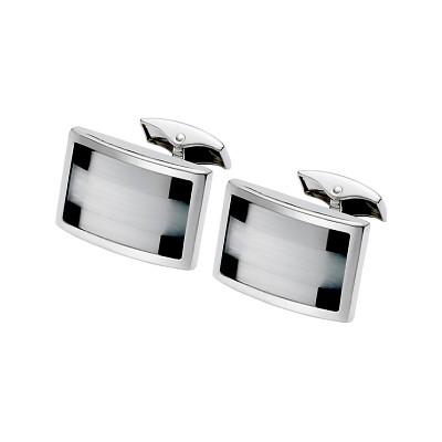 Men's Black Onyx & Fibre Optic Cufflinks