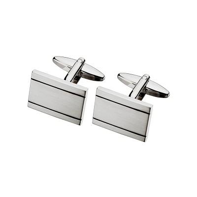 Men's Stylish Steel Rectangle Cufflinks