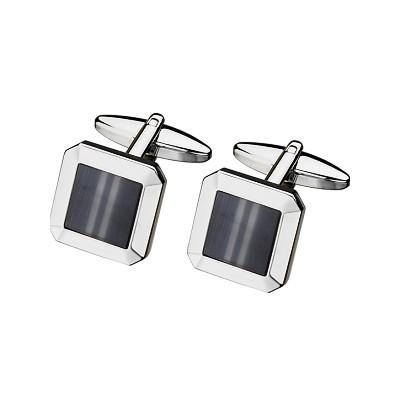 Men's Steel & Grey Cat Eye Cufflinks