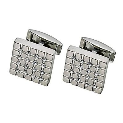 Men's Titanium Swarovski Crystal Cufflinks