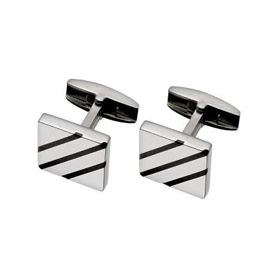 Men's Matte Titanium Cufflinks