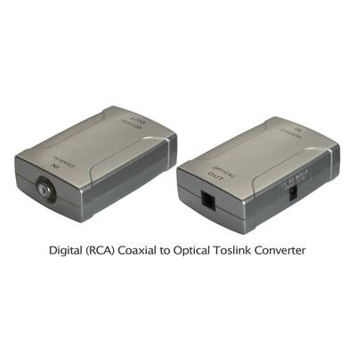 Coaxial RCA-to-Optical Toslink Converter